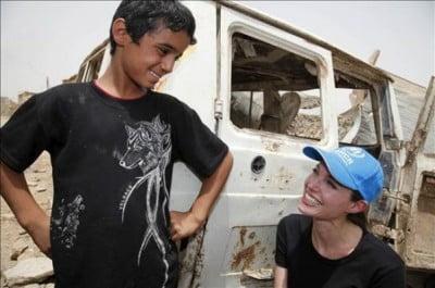 ACNUR y Angelina Jolie