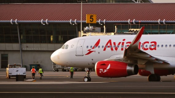 Avión de la compañía aérea Avianca