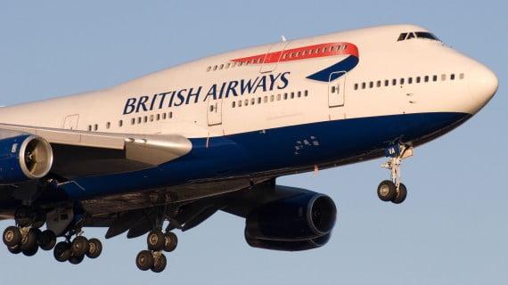 Avión da compañía aérea British Airways
