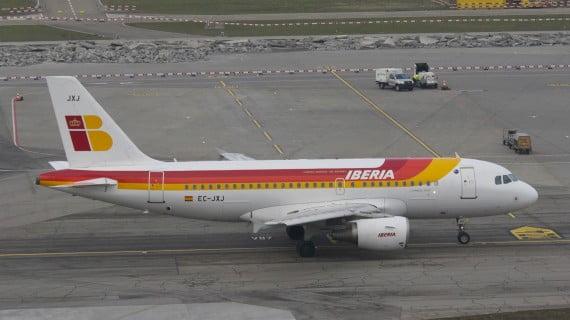 Avión da compañía aérea Iberia