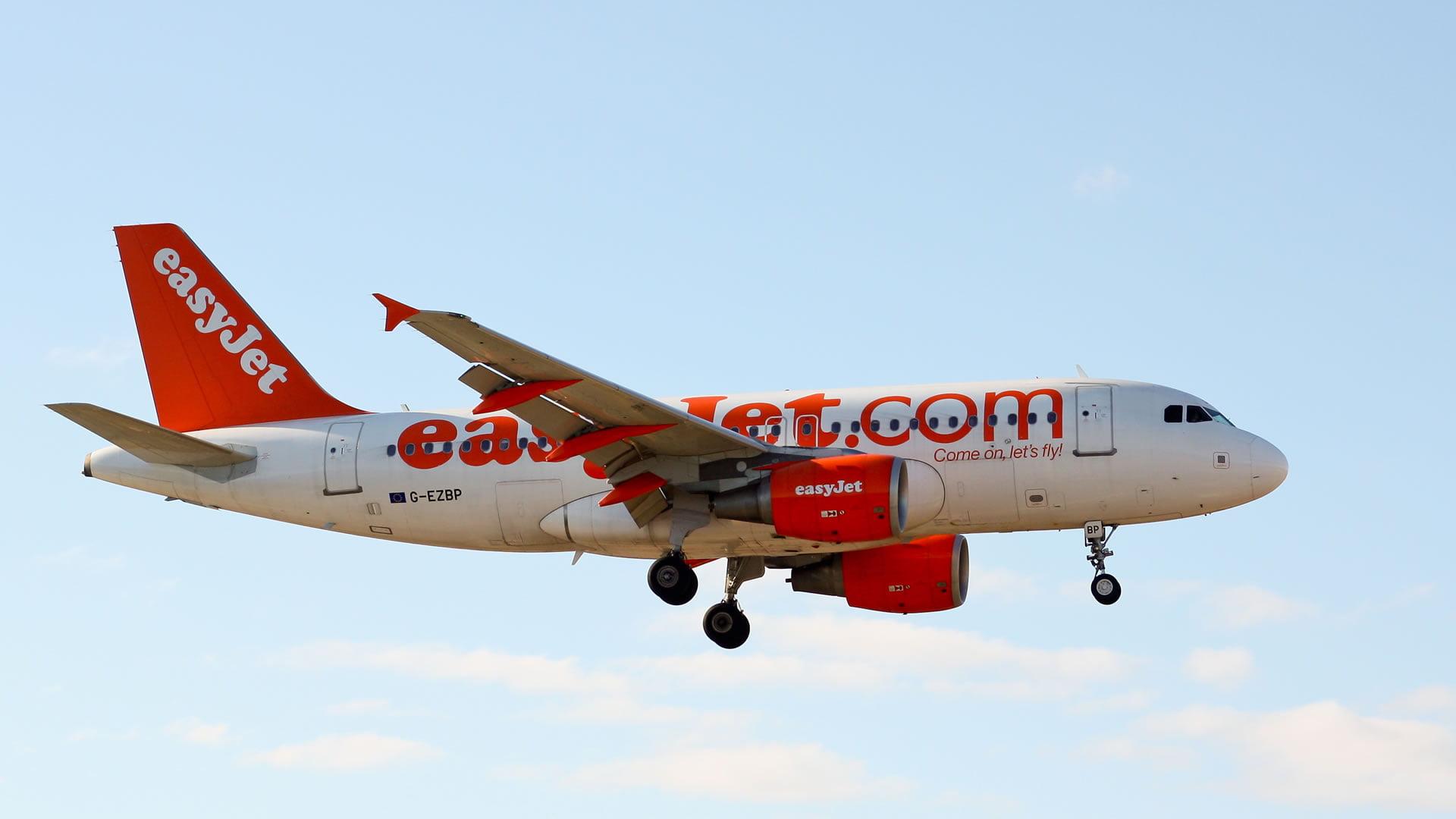 Aeronave de la compañía aérea easyJet
