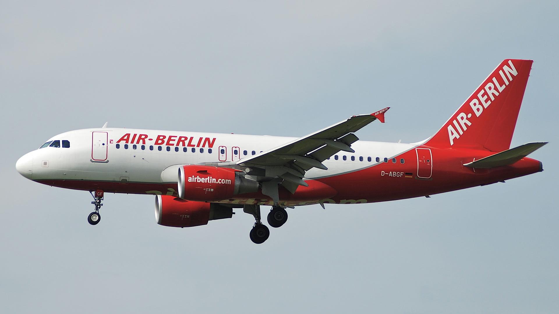 Aeronave de la compañia aérea AirBerlin