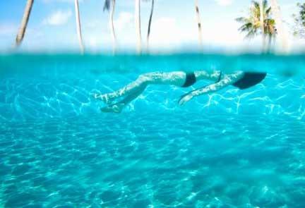 Agua en Tahiti