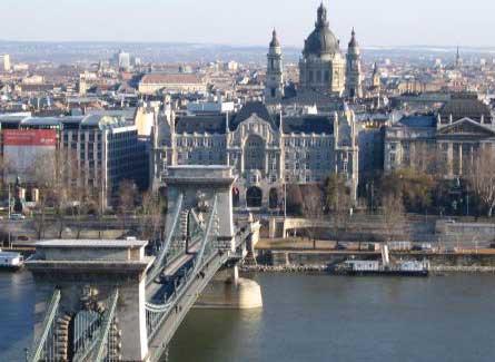 Amplia vista de Budapest