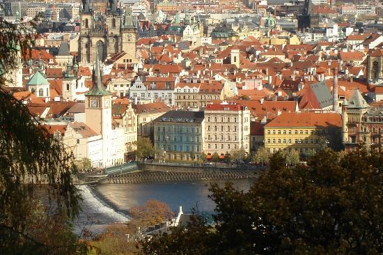 Amplia vista de Praga