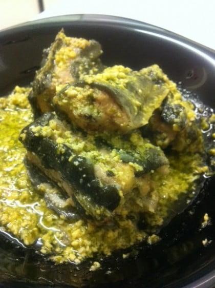 Anguila en salsa verde