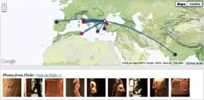 Aplicación Google Ancient Places