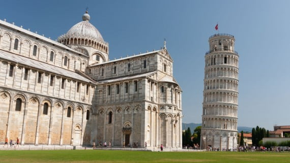 Italian architecture: the tower of Pisa