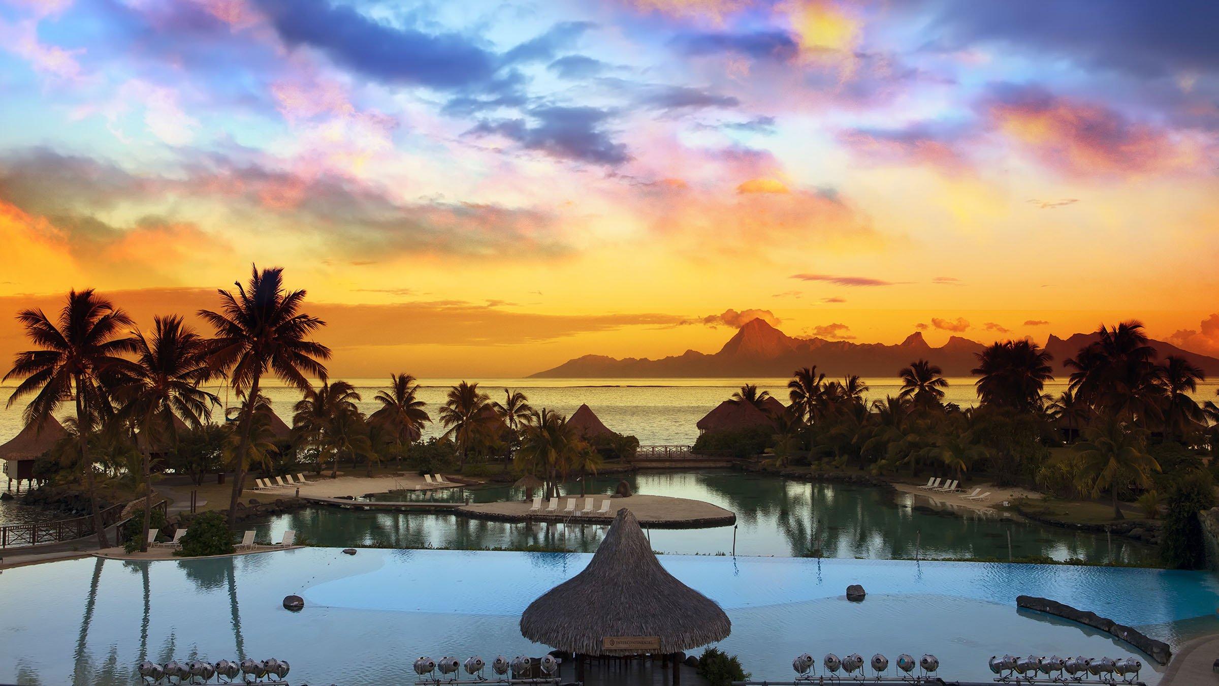 Atardecer en Tahiti