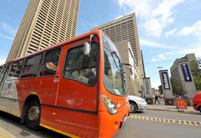 Autobus en Sudafrica