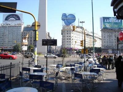 Avenida Corrientes en Buenos Aires, Argentina