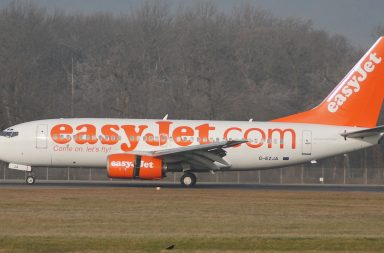 Avión de la aerolínea easyJet