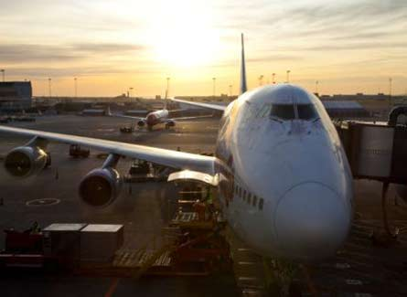 Avion estacionado