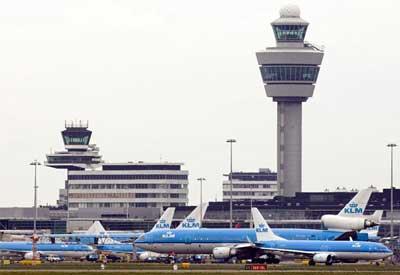 Aviones en Schiphol