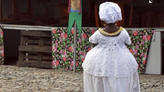 Bahiana en traje típico de Salvador de Bahía