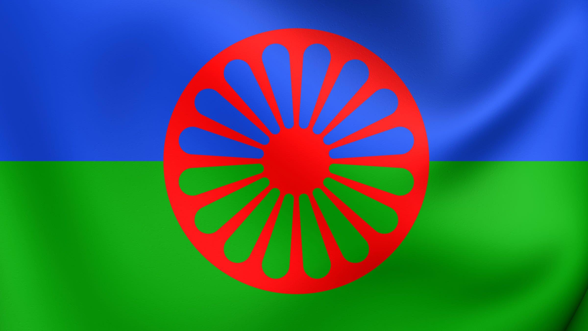 Resultado de imagen para bandera del pueblo gitano