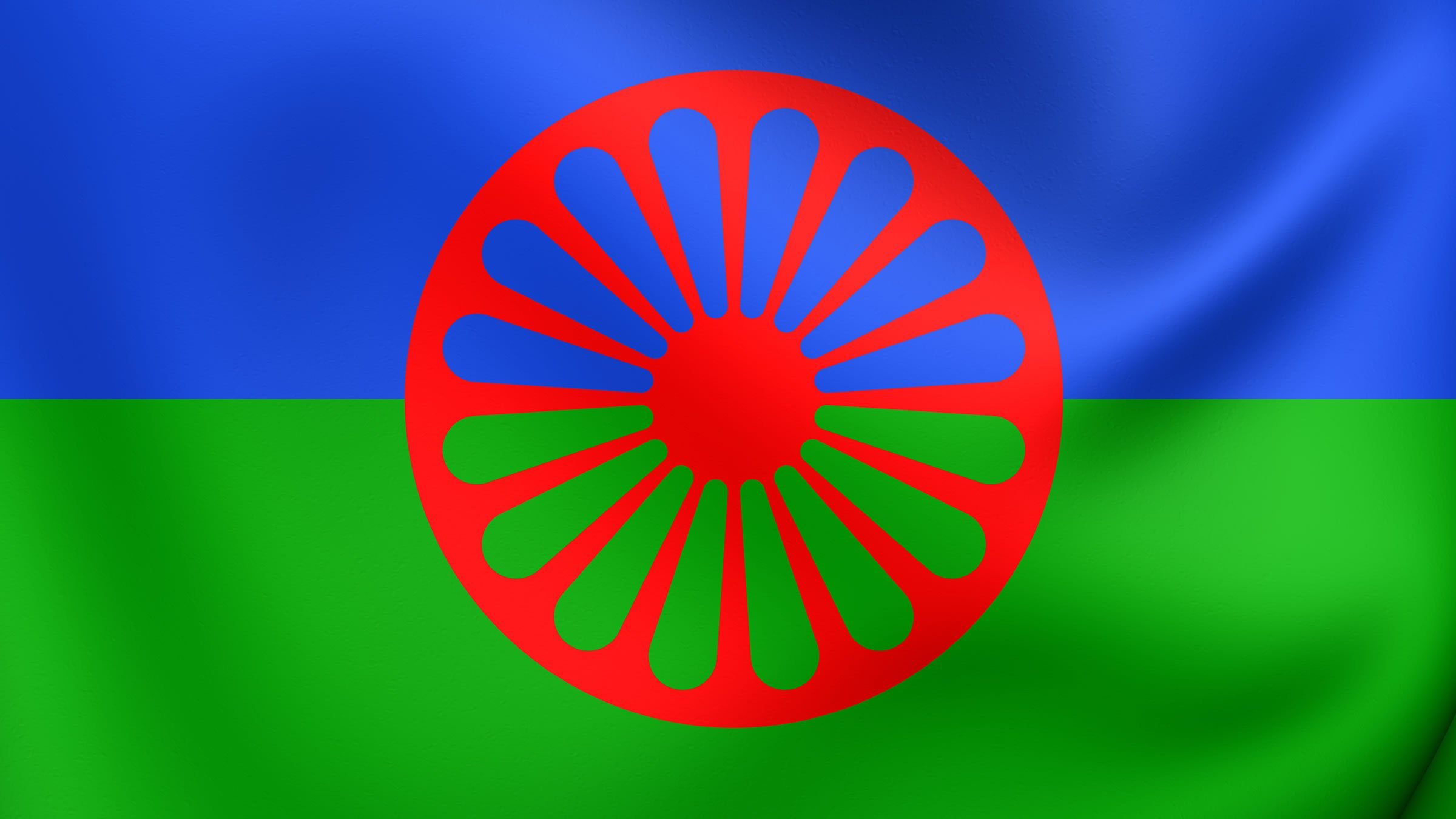 Resultado de imagen de bandera gitana