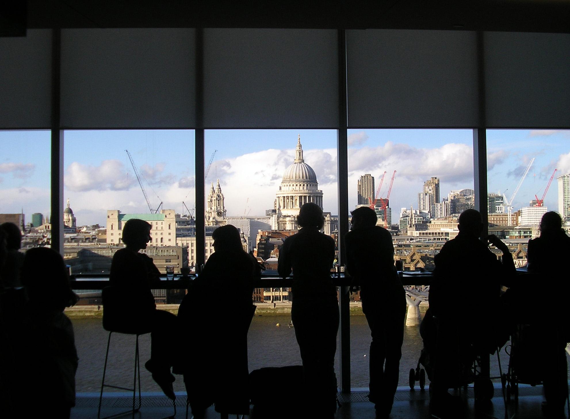 Vista desde el Bar de la Tate Modern