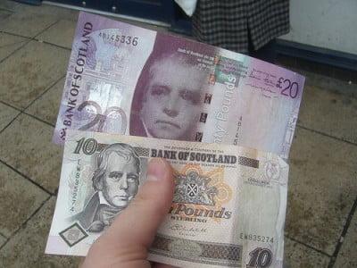 Billetes Banco de Escocia