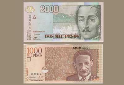 Billetes De Pesos Colombianos
