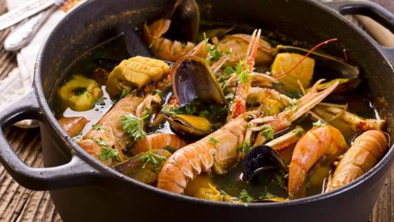 法式海鮮湯或法式海鮮湯