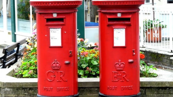 Buzones de correos en el Reino Unido
