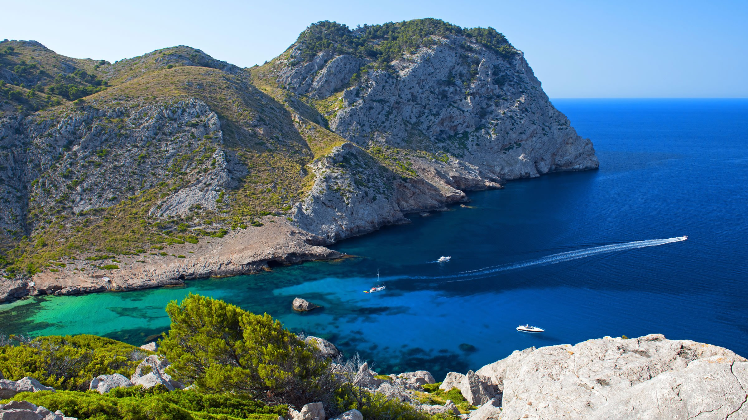 Vista aérea del Cabo de Formentor, Mallorca, España