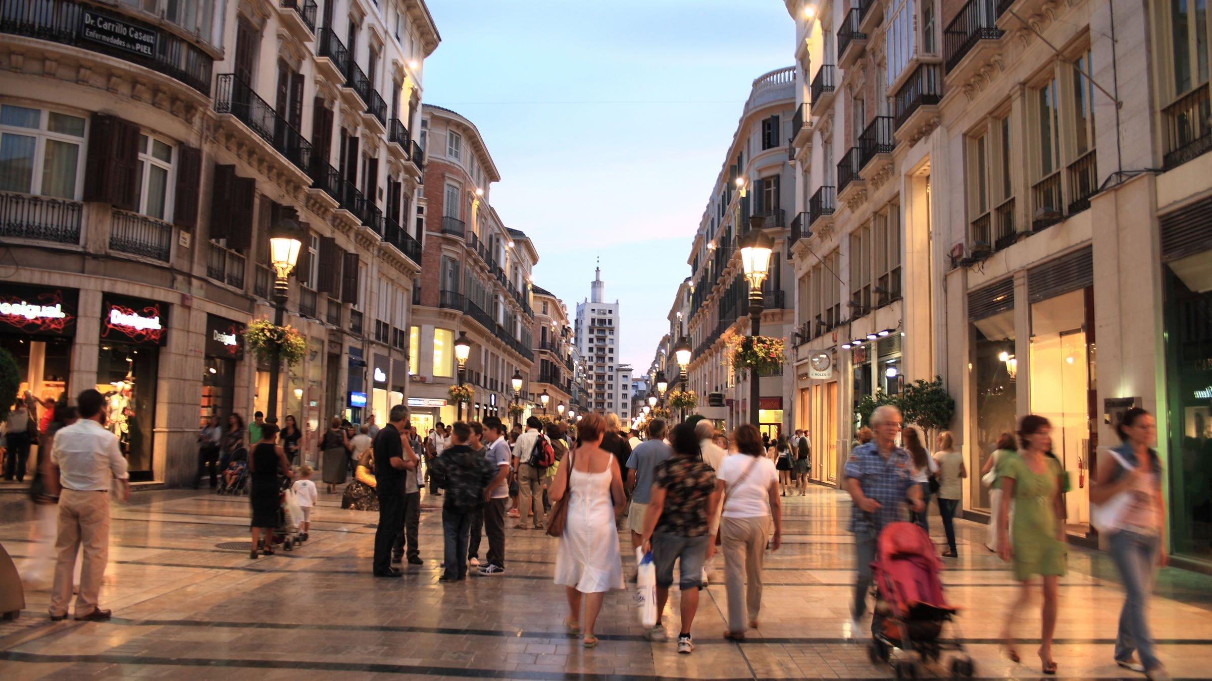 Calle Larios, la arteria principal de Málaga