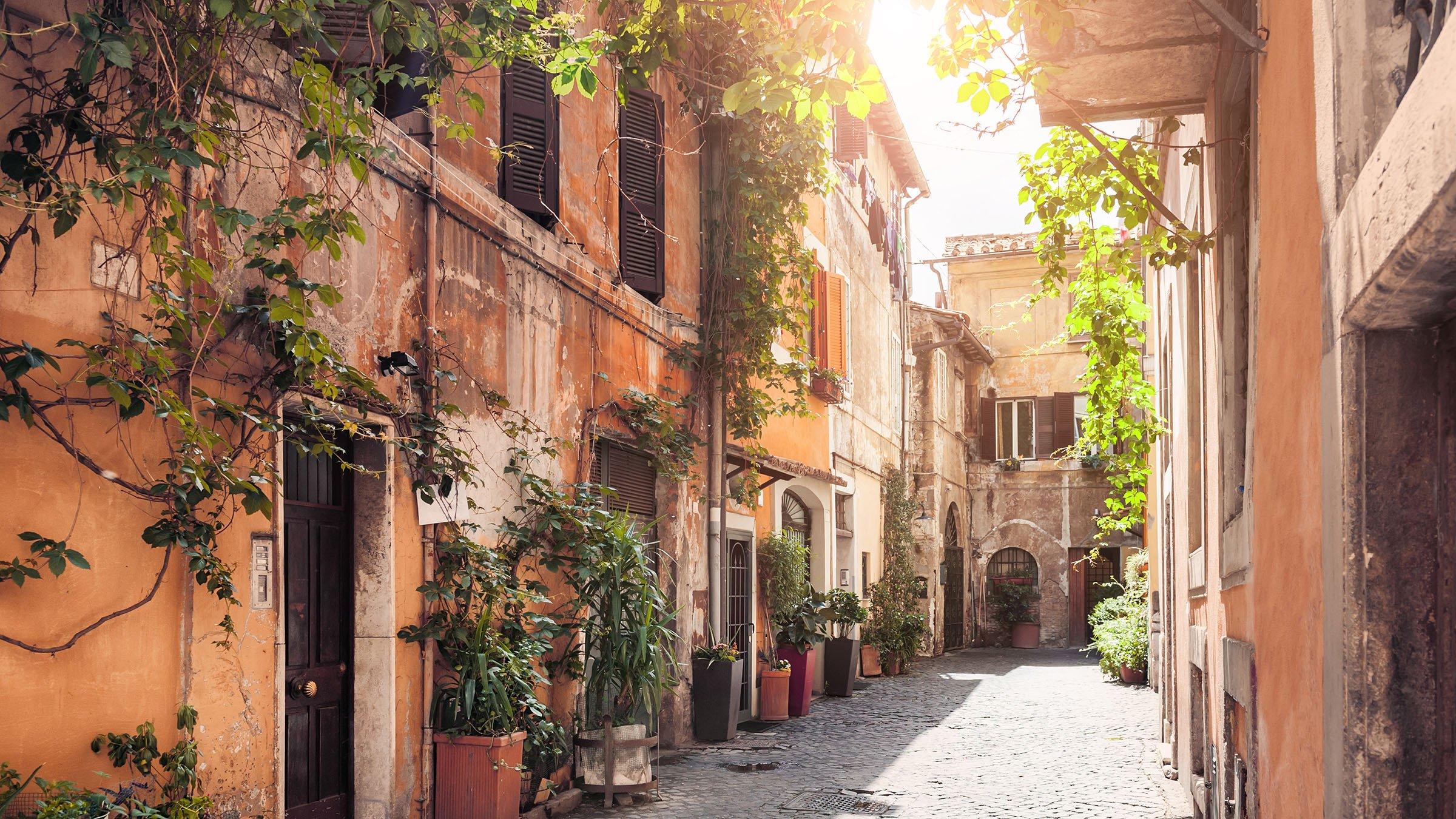 Calle del Trastevere en Roma
