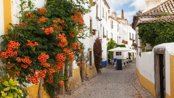 Calles de Óbidos, Portugal