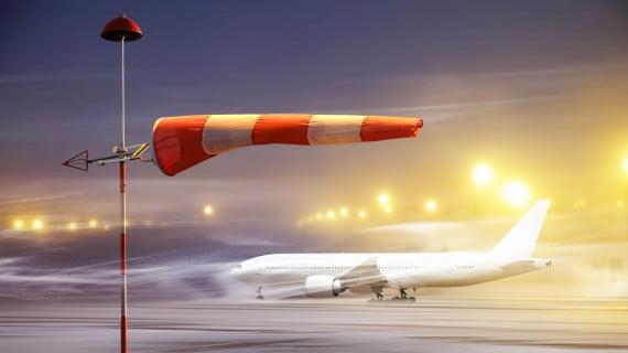 Malas condiciones meteorológicas para volar