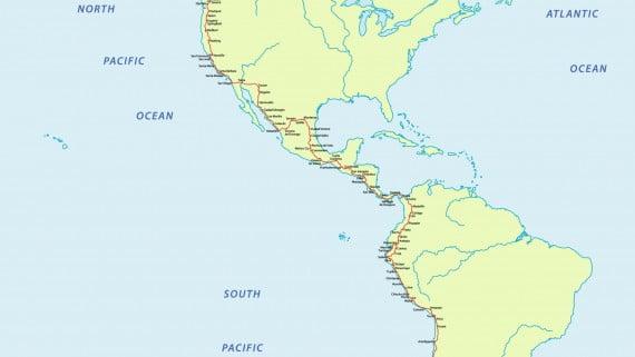 Ruta Panamericana en su paso por América Central