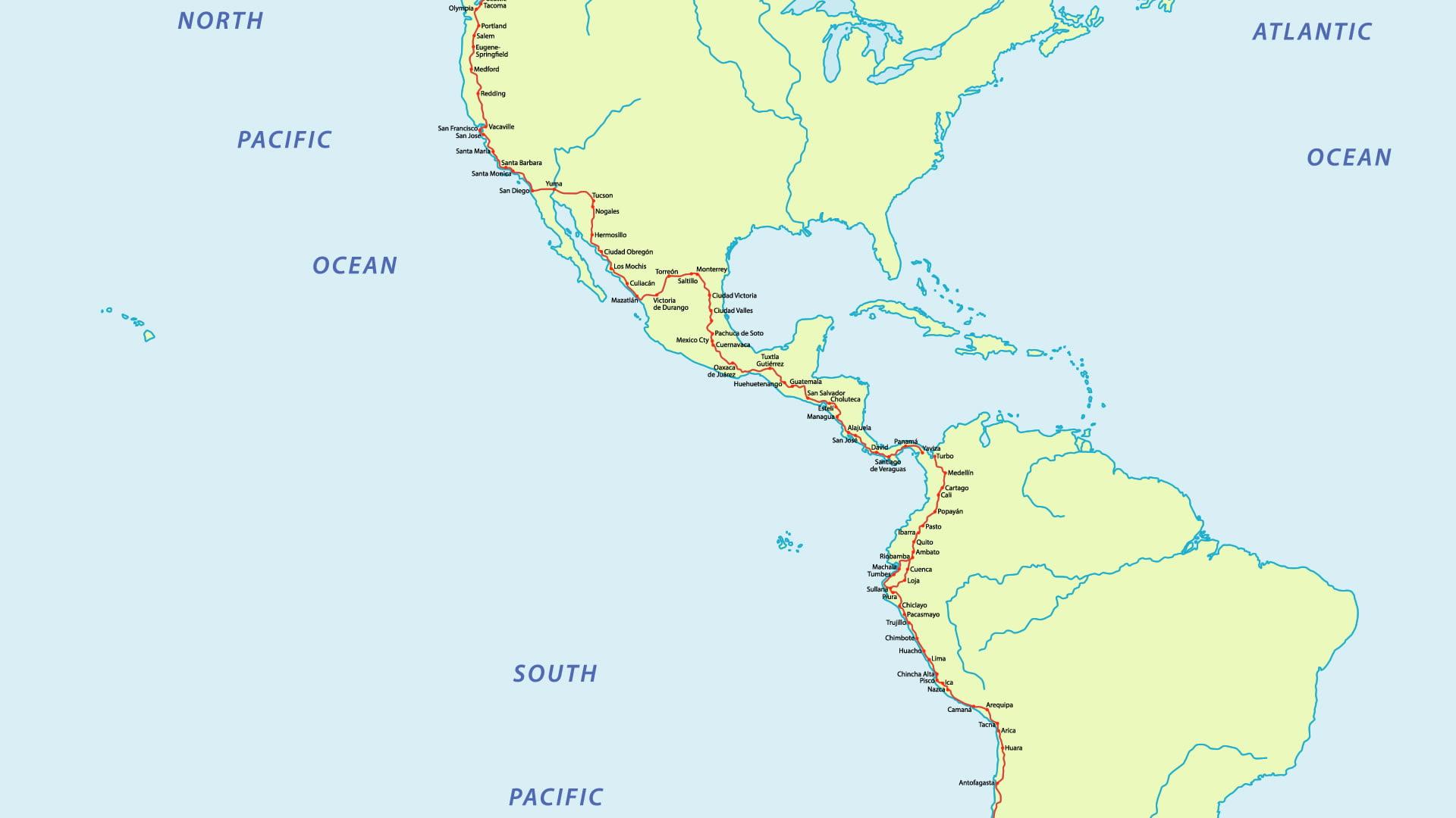 Mapas de América Central
