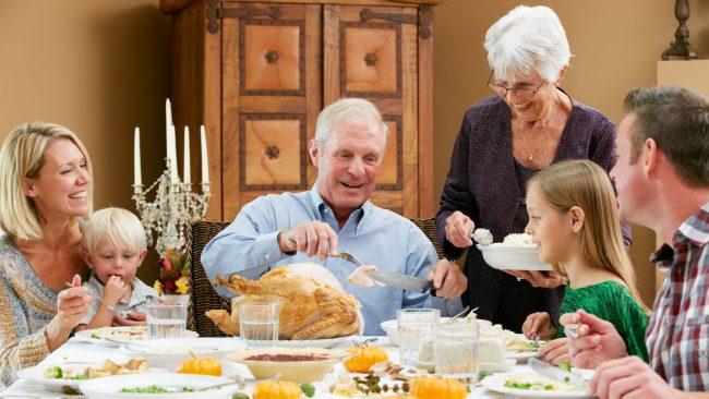 Cena de Acción de Gracias en Estados Unidos