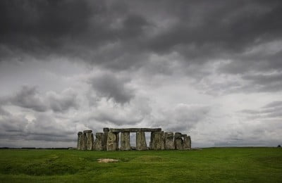Cielo en Stonehenge