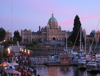 Ciudad de Victoria en Canada