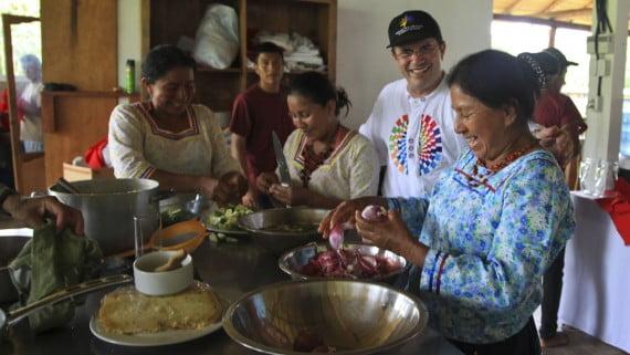 Comunidad kichwa en el Parque Nacional Yasuní (Ecuador)