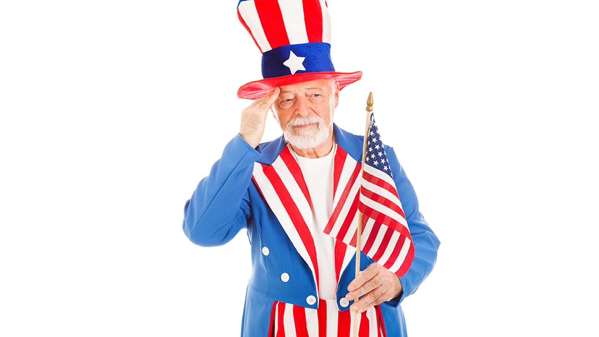 Disfraz de Tío Sam o Uncle Sam