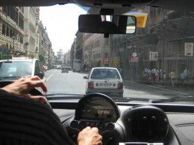 Roma desde el taxi