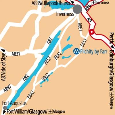 Distancia Glasgow e Inverness