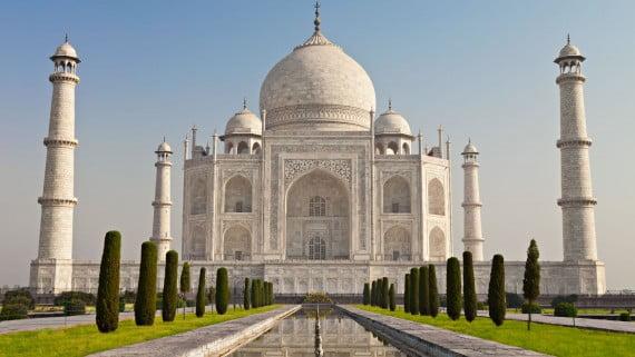 O Taj Mahal, o edificio representativo da arquitectura india