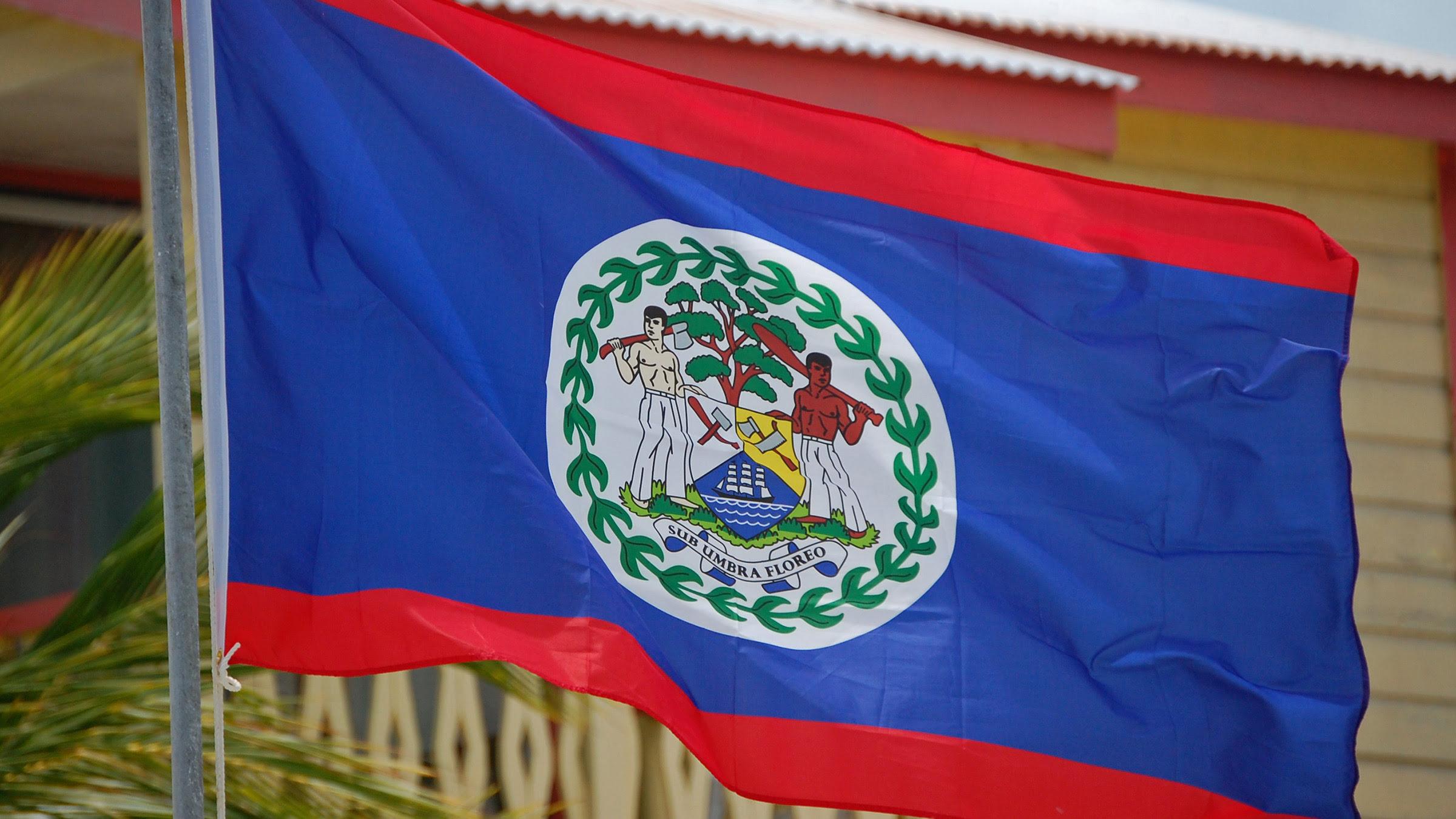 El presidente de Belice bandera