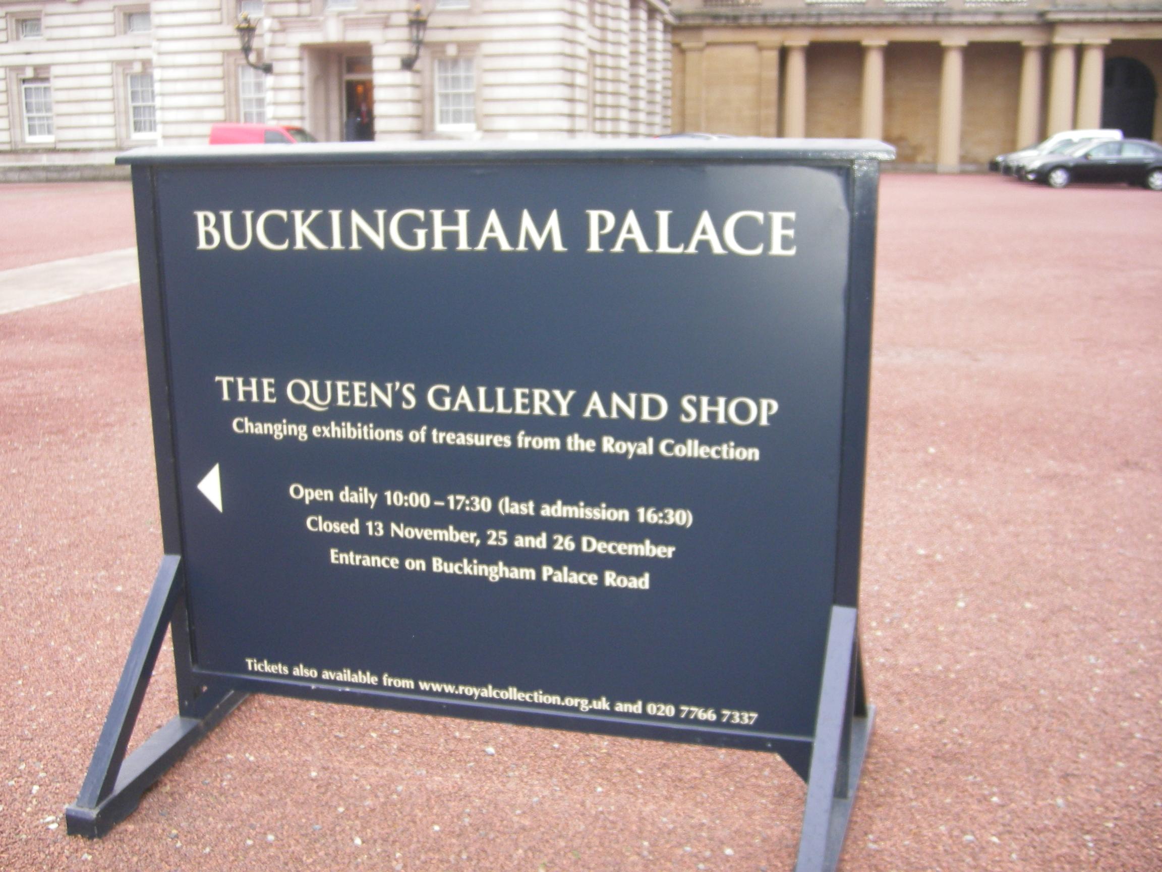 Entrada al Palacio de Buckingham