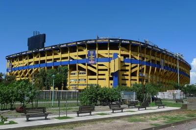 Estadio La Bombonera en Buenos Aires