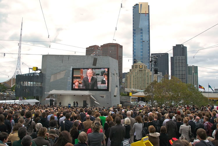 Evento en Federation Square