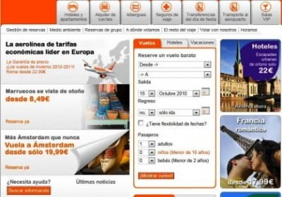Facturación online en Easyjet