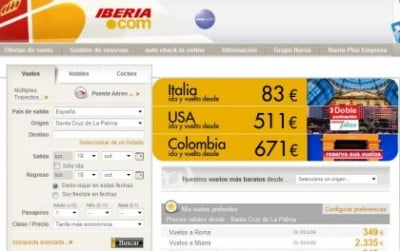 Facturación online en Iberia