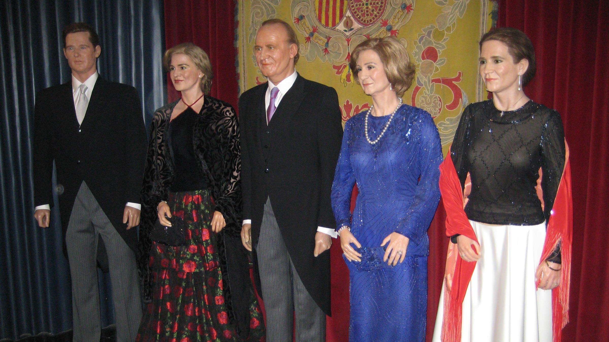 Familia Real española en el Museo de Cera de Madrid
