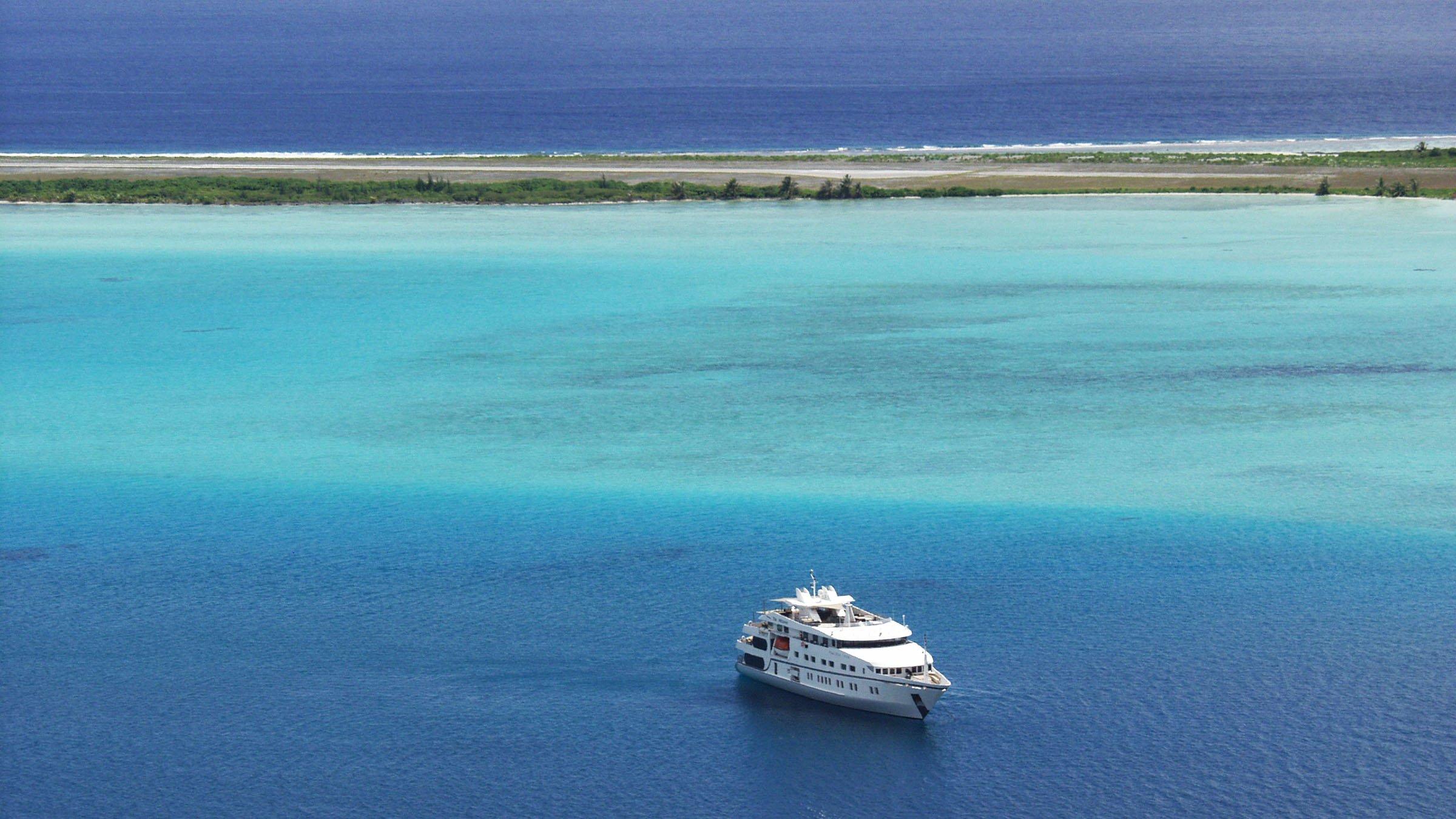 Ferry en Bora Bora