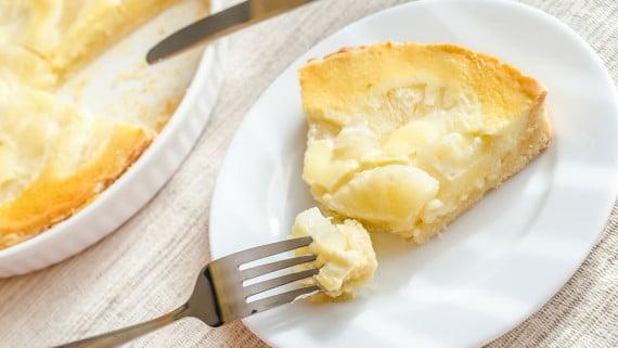 Flan o queso de piña